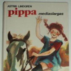 Libros de segunda mano: PIPPA MEDIASLARGAS POR ASTRID LINDGREN. EDIT. JUVENTUD. Nº 15. TAPA DURA... Lote 130635346