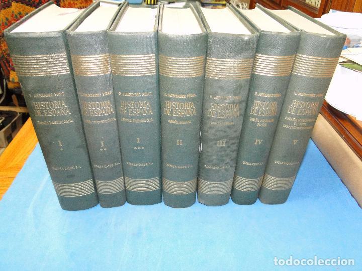 RAMON MENENDEZ PIDAL. HISTORIA DE ESPAÑA ( 7.VOL. VER DESCRIPCIÓN) (Libros de Segunda Mano - Historia - Otros)