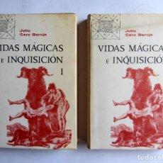 Libros de segunda mano: VIDAS MAGICAS E INQUISICION. JULIO CARO BAROJA. EDITORIAL TAURUS. 1 EDICION. 1967.. Lote 106040363