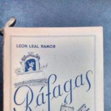 Libri di seconda mano: RÁFAGAS. LEÓN LEAL RAMOS. CÁCERES 1960. Lote 106060003