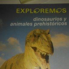 Libros de segunda mano: EXPLOREMOS. DINOSAURIOS Y ANIMALES PREHISTÓRICOS. EDELVIVES. LUIS VIVES 1992. CARTONÉ. PÁGINAS 54. P. Lote 106090879