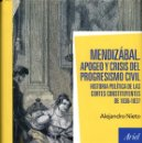 Libros de segunda mano: MENDIZÁBAL. APOGEO Y CRISIS DEL PROGRESISMO CIVIL / ALEJANDRO NIETO. Lote 161069994