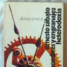 Libros de segunda mano: HOMBRES Y ENGRANAJES - HETERODOXIA - ERNESTO SÁBATO - ALIENZA EDITORIAL 1973 - VER INDICE. Lote 106236051