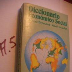 Libros de segunda mano: DICCIONARIO ECONOMICO SOCIAL. Lote 106462263