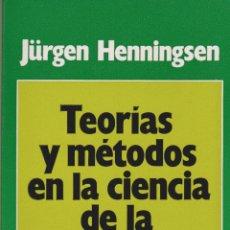 Libros de segunda mano: TEORÍAS Y MÉTODOS EN LA CIENCIA DE LA EDUCACIÓN / JÜRGEN HENNINGSEN . Lote 106495439