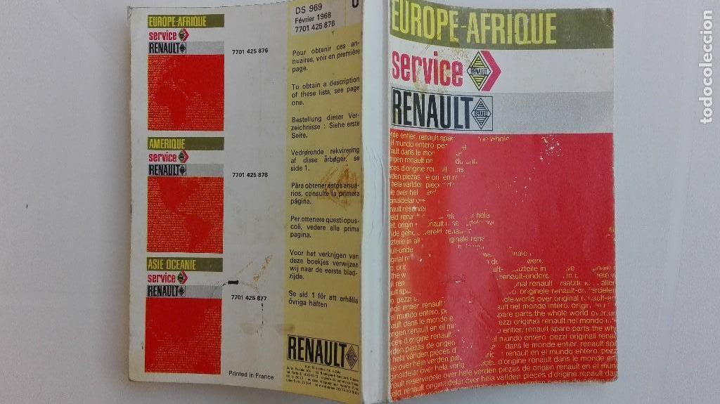 SERVICE RENAULT EUROPE—AFRIQUE (Libros de Segunda Mano - Ciencias, Manuales y Oficios - Otros)