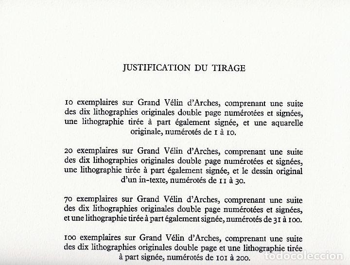 Libros de segunda mano: ORAISONS FUNÈBRES ANDRÉ MALRAUX LIBRO ARTISTA NUMERADO FIRMADO A MANO LITOGRAFÍA 338/495 ARROYO - Foto 9 - 106593163