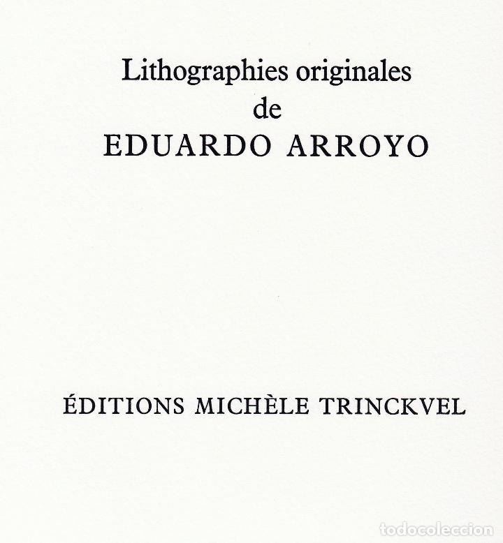 Libros de segunda mano: ORAISONS FUNÈBRES ANDRÉ MALRAUX LIBRO ARTISTA NUMERADO FIRMADO A MANO LITOGRAFÍA 338/495 ARROYO - Foto 19 - 106593163