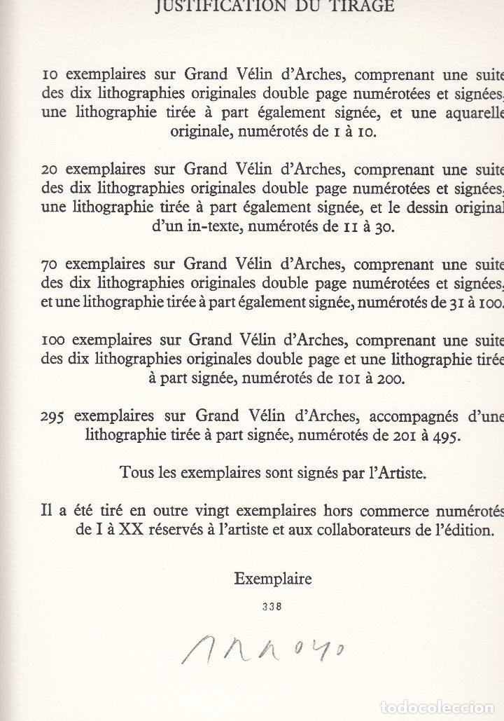 Libros de segunda mano: ORAISONS FUNÈBRES ANDRÉ MALRAUX LIBRO ARTISTA NUMERADO FIRMADO A MANO LITOGRAFÍA 338/495 ARROYO - Foto 20 - 106593163