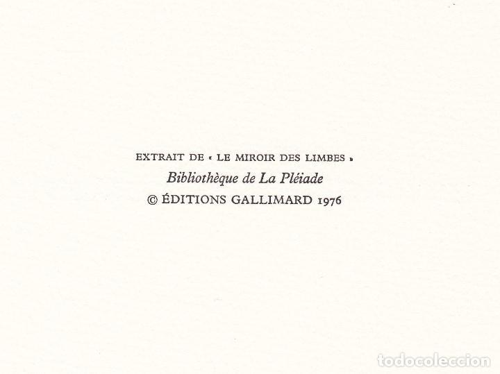 Libros de segunda mano: ORAISONS FUNÈBRES ANDRÉ MALRAUX LIBRO ARTISTA NUMERADO FIRMADO A MANO LITOGRAFÍA 338/495 ARROYO - Foto 23 - 106593163