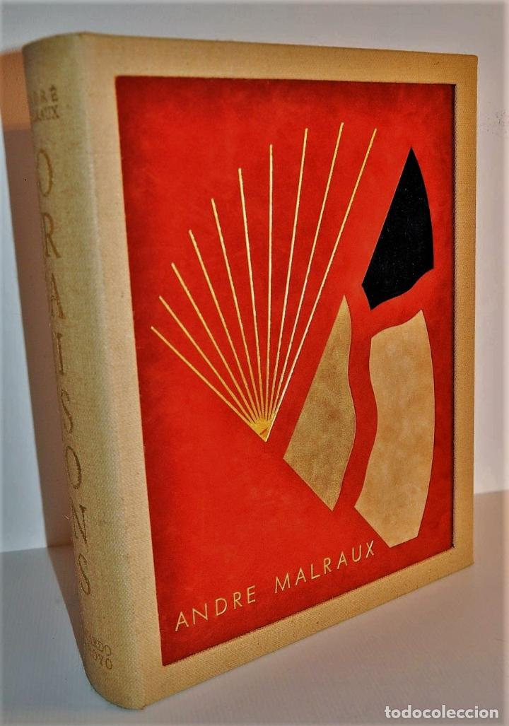 Libros de segunda mano: ORAISONS FUNÈBRES ANDRÉ MALRAUX LIBRO ARTISTA NUMERADO FIRMADO A MANO LITOGRAFÍA 338/495 ARROYO - Foto 24 - 106593163
