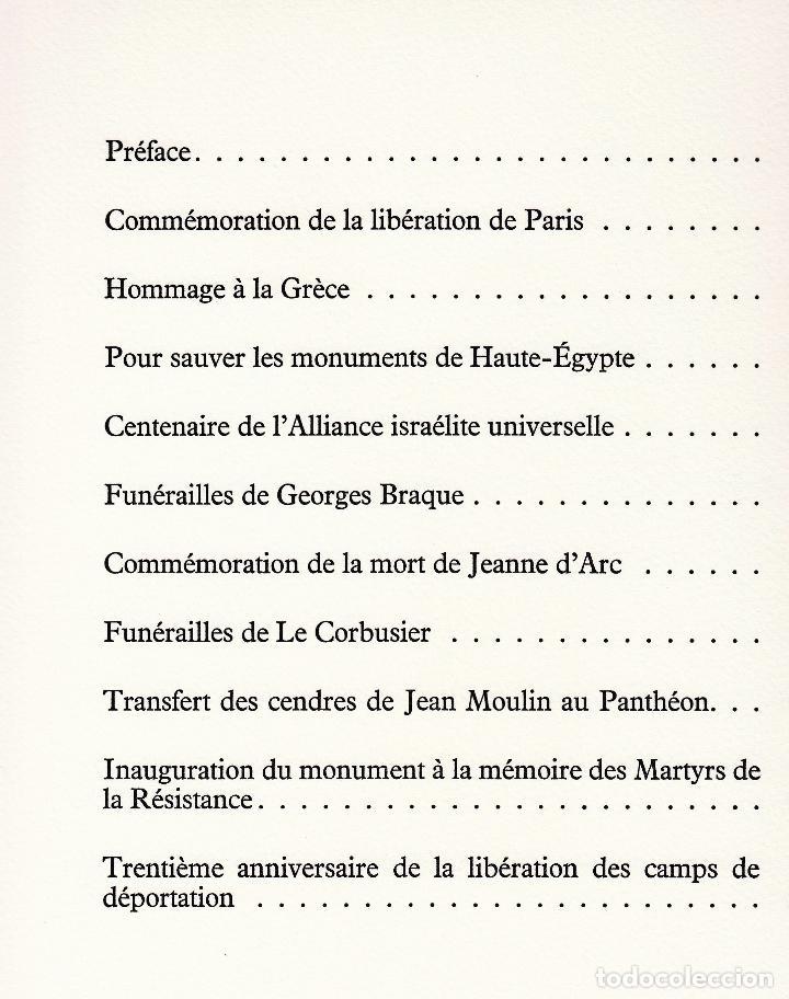 Libros de segunda mano: ORAISONS FUNÈBRES ANDRÉ MALRAUX LIBRO ARTISTA NUMERADO FIRMADO A MANO LITOGRAFÍA 338/495 ARROYO - Foto 32 - 106593163