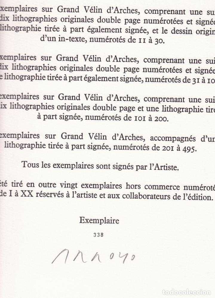 Libros de segunda mano: ORAISONS FUNÈBRES ANDRÉ MALRAUX LIBRO ARTISTA NUMERADO FIRMADO A MANO LITOGRAFÍA 338/495 ARROYO - Foto 34 - 106593163