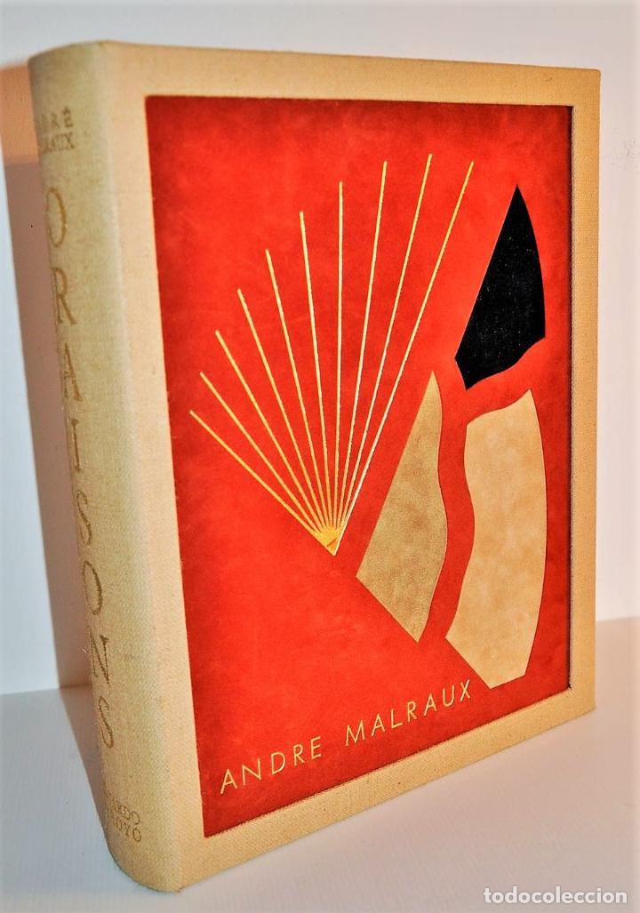 Libros de segunda mano: ORAISONS FUNÈBRES ANDRÉ MALRAUX LIBRO ARTISTA NUMERADO FIRMADO A MANO LITOGRAFÍA 338/495 ARROYO - Foto 35 - 106593163