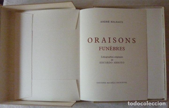 Libros de segunda mano: ORAISONS FUNÈBRES ANDRÉ MALRAUX LIBRO ARTISTA NUMERADO FIRMADO A MANO LITOGRAFÍA 338/495 ARROYO - Foto 37 - 106593163