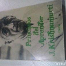 Libros de segunda mano: J. KRISHNAMURTI PRINCIPIOS DEL APRENDER EDHASA. Lote 106626415