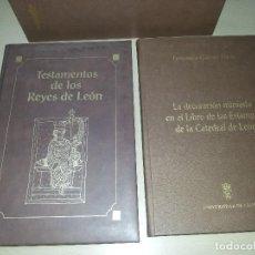 Libros de segunda mano: TESTAMENTOS DE LOS REYES DE LEÓN : LIBRO DE LAS ESTAMPAS-FACSÍMIL. Lote 106824211