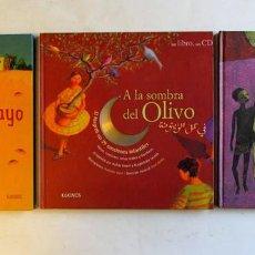 Libros de segunda mano: CANCIONES INFANTILES. 3 LIBROS + 3 CDS. EDITORIAL KÓKINOS 2007. CANCIONES DEL MUNDO. ILUSTRADO. TAPA. Lote 106927951