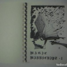 Libros de segunda mano: LIBRERIA GHOTICA. MAGIC MANUSCRIPT 1. 1980. EL DRAC MAGIC. FOLIO MENOR. MUY ILUSTRADO. MAGIA.. Lote 106945991