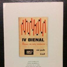 Livros em segunda mão: IV BIENAL DO MUSEU DE ARTE MODERNO, MANZANOS, MANTEROLA, DE LA TORRE, BANDERA, BONET, AMARANTE. Lote 106950463