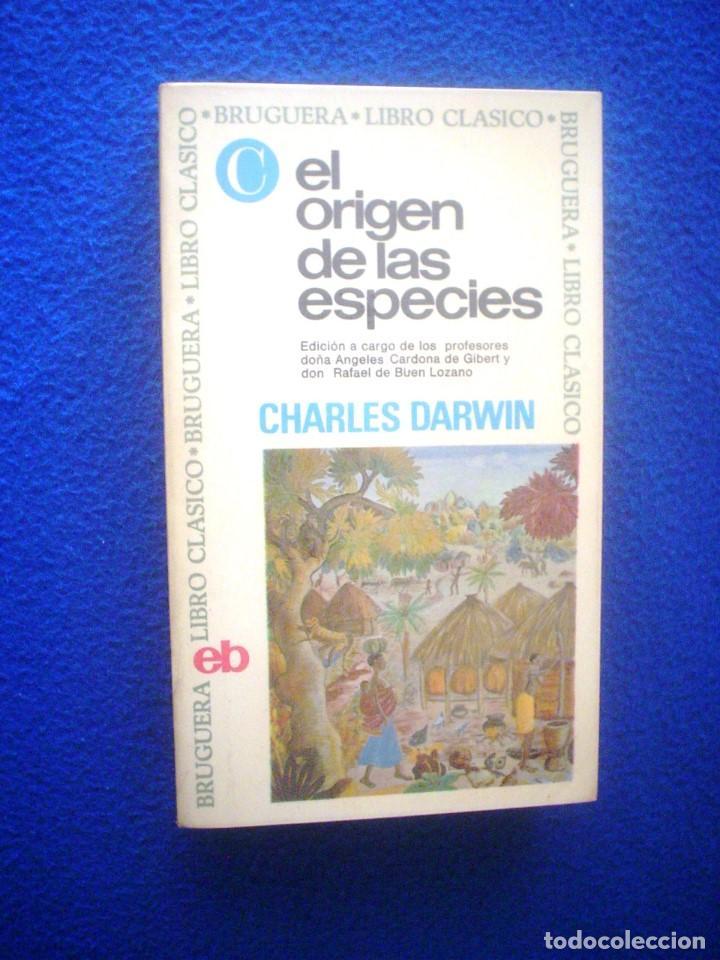 CHARLES DARWIN: EL ORIGEN DE LAS ESPECIES (Libros de Segunda Mano - Ciencias, Manuales y Oficios - Otros)