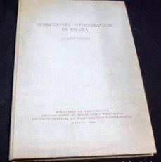 Libros de segunda mano: SUBREGIONES FITOCLIMATICAS DE ESPAÑA, J.L. ALLUE ANDRADE. Lote 107065723