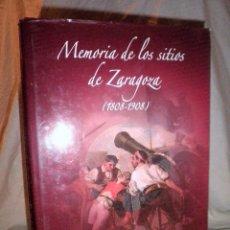 Libros de segunda mano: MEMORIA DE LOS SITIOS DE ZARAGOZA (1808-1908) - J.BLANCO - MONUMENTAL OBRA HISTORICA ILUSTRADA.. Lote 107138663