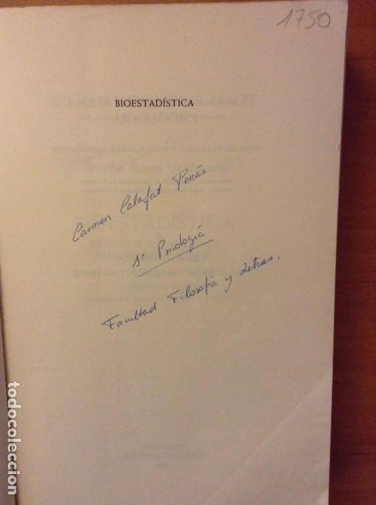 Libros de segunda mano: BIOESTADISTICA. METODOS ESTADISTICOS PARA INVESTIGADORES (JOSEP M. DOMENECH) EDITORIAL HERDER - Foto 4 - 107254775