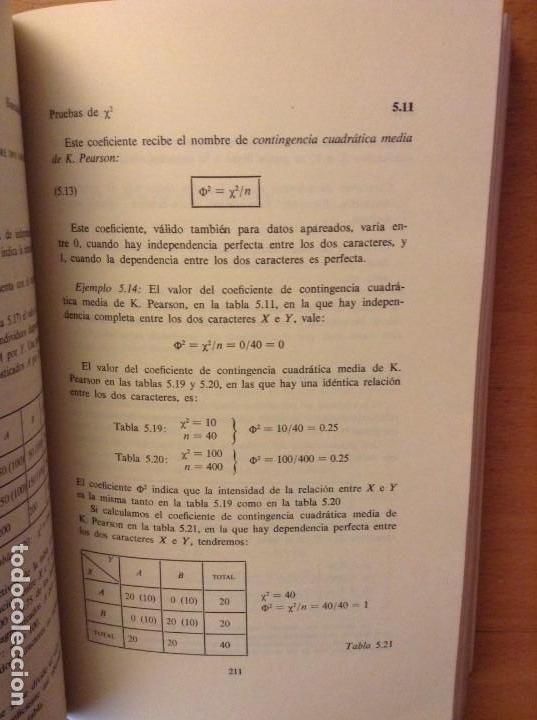 Libros de segunda mano: BIOESTADISTICA. METODOS ESTADISTICOS PARA INVESTIGADORES (JOSEP M. DOMENECH) EDITORIAL HERDER - Foto 13 - 107254775