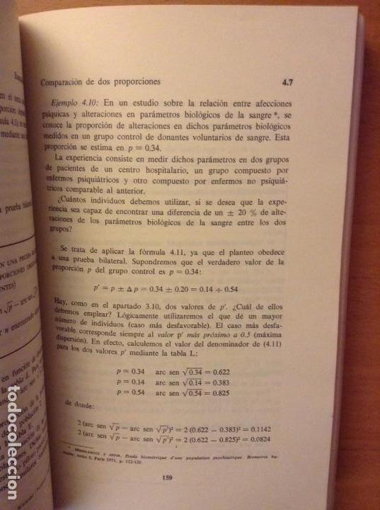 Libros de segunda mano: BIOESTADISTICA. METODOS ESTADISTICOS PARA INVESTIGADORES (JOSEP M. DOMENECH) EDITORIAL HERDER - Foto 14 - 107254775
