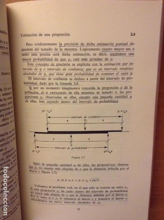 Libros de segunda mano: BIOESTADISTICA. METODOS ESTADISTICOS PARA INVESTIGADORES (JOSEP M. DOMENECH) EDITORIAL HERDER - Foto 15 - 107254775