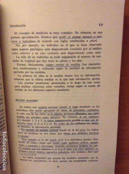Libros de segunda mano: BIOESTADISTICA. METODOS ESTADISTICOS PARA INVESTIGADORES (JOSEP M. DOMENECH) EDITORIAL HERDER - Foto 16 - 107254775
