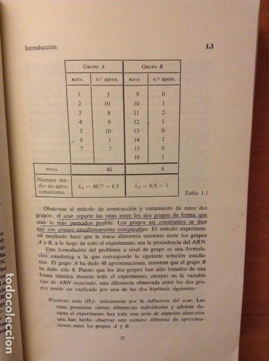 Libros de segunda mano: BIOESTADISTICA. METODOS ESTADISTICOS PARA INVESTIGADORES (JOSEP M. DOMENECH) EDITORIAL HERDER - Foto 17 - 107254775
