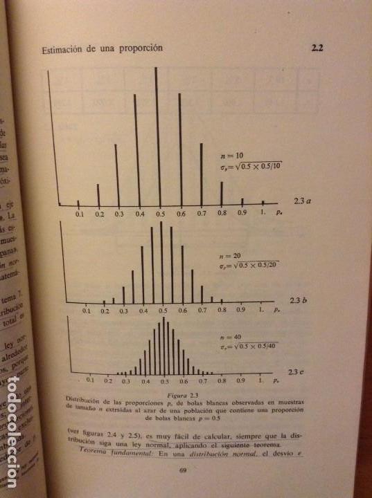 Libros de segunda mano: BIOESTADISTICA. METODOS ESTADISTICOS PARA INVESTIGADORES (JOSEP M. DOMENECH) EDITORIAL HERDER - Foto 18 - 107254775
