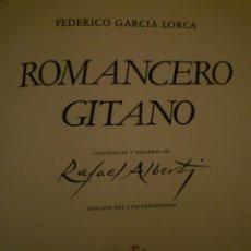 Libros de segunda mano: FEDERICO GARCÍA LORCA. ROMANCERO GITANO. RAFAEL ALBERTI.1977. Lote 107313999