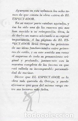 Libros de segunda mano: El espectador / Jose Ortega y Gasset. Madrid : Bib. Nueva, 1943. 17x12 cm. 1067 p. papel biblia - Foto 3 - 107332907