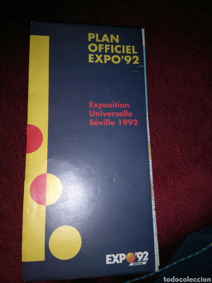 PLANO FRANCÉS EXPO 92 - MAPA - GUÍA (Libros de Segunda Mano - Bellas artes, ocio y coleccionismo - Otros)