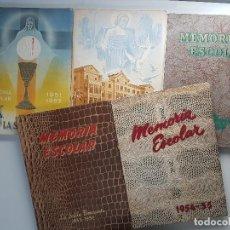 Libros de segunda mano: LOTE DE 5 LIBROS MEMÓRIA ESCOLAR LA SALLE BONANOVA. Lote 107493539