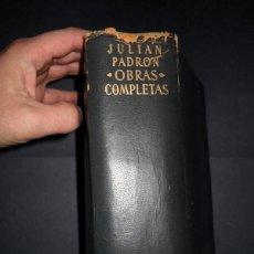 Libros de segunda mano: ETERNAS, OBRAS COMPLETAS DE JULIÁN PADRÓN, AGUILAR. Lote 107582979