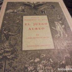 Libros de segunda mano: EL JUEGO AUREO - SIRUELA 1988 ESTUCHE - KLOSSOWSKI DE ROLA - 533 GRABADOS ALQUIMIA - DE LIBRERIA !!. Lote 107729723