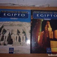 Libros de segunda mano: ATLAS CULTURALES DEL MUNDO EGIPTO VOLUMEN I Y II.. Lote 107732975