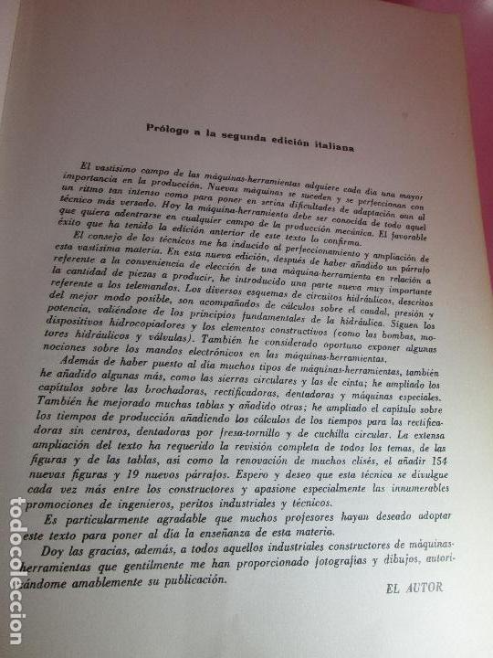 Libros de segunda mano: libro-máquinas,herramientas modernas-mario rossi-hoepli-ed.cientifico.médica-5ªedición-1966 - Foto 9 - 107759243