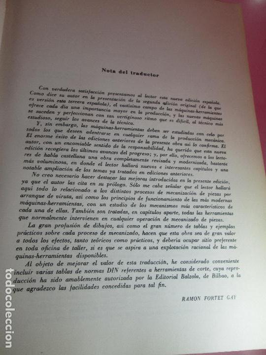 Libros de segunda mano: libro-máquinas,herramientas modernas-mario rossi-hoepli-ed.cientifico.médica-5ªedición-1966 - Foto 10 - 107759243