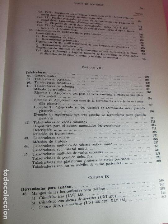 Libros de segunda mano: libro-máquinas,herramientas modernas-mario rossi-hoepli-ed.cientifico.médica-5ªedición-1966 - Foto 15 - 107759243