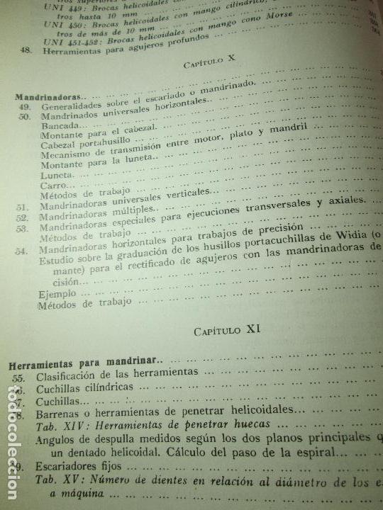 Libros de segunda mano: libro-máquinas,herramientas modernas-mario rossi-hoepli-ed.cientifico.médica-5ªedición-1966 - Foto 16 - 107759243