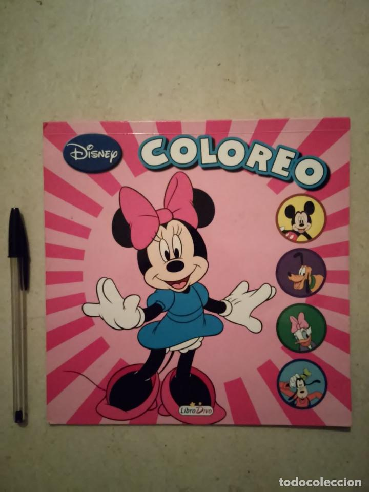 Cuaderno Para Colorear Coloreo Minnie Walt Disney Año 2012