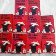 Libros de segunda mano: BIBLIOTECA DE JUEGOS PRESTIDIGITACIÓN E ILUSIONISMO - CURSO DE MAGIA - 10 LIBROS - . Lote 107824751
