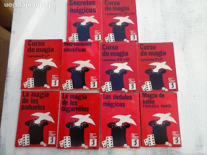 Libros de segunda mano: BIBLIOTECA DE JUEGOS PRESTIDIGITACIÓN E ILUSIONISMO - CURSO DE MAGIA - 10 LIBROS - - Foto 2 - 107824751