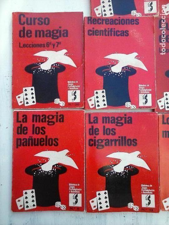 Libros de segunda mano: BIBLIOTECA DE JUEGOS PRESTIDIGITACIÓN E ILUSIONISMO - CURSO DE MAGIA - 10 LIBROS - - Foto 3 - 107824751