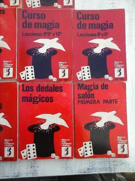 Libros de segunda mano: BIBLIOTECA DE JUEGOS PRESTIDIGITACIÓN E ILUSIONISMO - CURSO DE MAGIA - 10 LIBROS - - Foto 4 - 107824751